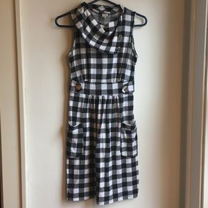 Wet Seal Black and White Checkered Dress Size S